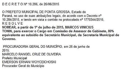 Informações do Portal da Transparência de Ponta Grossa