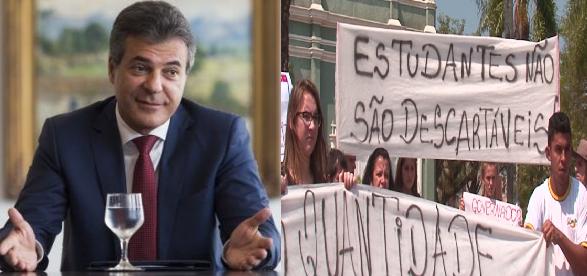 Após a polêmica criada em cima do fechamento de escolas no Paraná, o governador Beto Richa (PSDB), afirmou nesta sexta-feira (30), que o governo não vai mais fechar escolas. montagem com imagens/G1/Gazeta do Povo/Bruno Covello