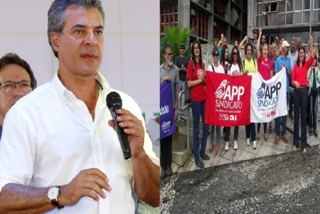 """""""Todos sabem a orientação politica partidária que esse sindicato tem, são ligados  ao PT, a Dilma e o Lula e não estão tão interessados assim nos direitos dos professores"""", declarou o governador Beto Richa."""