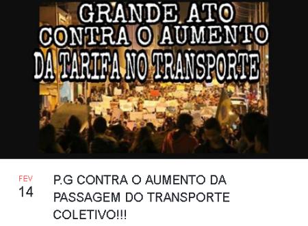A tarifa em Ponta Grossa custa R$ 3,20 e poderá subir para R$ 3,76. (foto: divulgação/facebook)